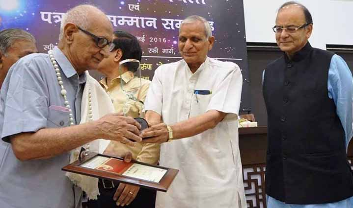 literature-senior-journalist-manmohan-sharma-got-narad-award-online-news-in-hindi-india