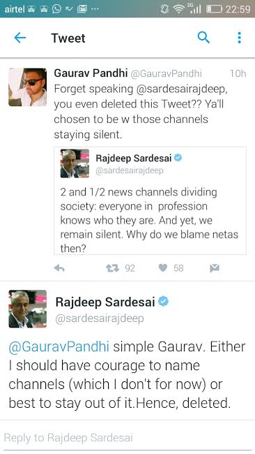 rajdeep tweet new